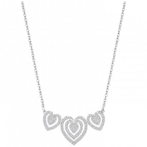 Trailer Swarovski Damen-catena con collana di cristallo Carol trasparente 40 cm - 5142737