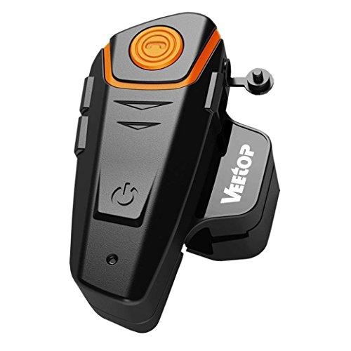 Veetop Motorrad / Ski / ATV Helm Interkom Bluetooth Multi Interphone Gegensprechanlage Sprechanlage 1000M – motorradhelm intercom (1 Set/UK-Ladegerät)