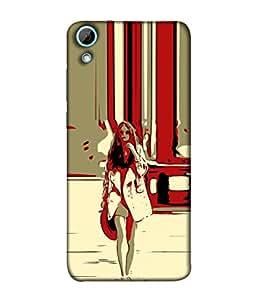 Snapdilla Designer Back Case Cover for HTC Desire 628 :: HTC Desire 628 Dual Sim (Illustration Girl White Hair Wallpaper Background )