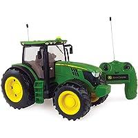 TOMY Big Farm - 42838 - Véhicule Miniature - Tracteur Radio Commandé - John Deere 6210R