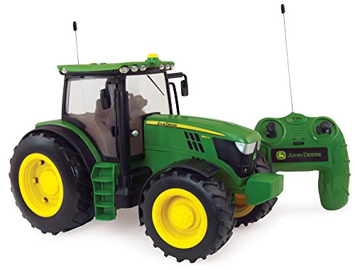 """TOMY Britains Trecker """"John Deere 6150R Big Farm"""" in grün - ferngesteuerter Traktor aus Kunststoff mit Fernbedienung - Traktor zum Spielen und Sammeln - ab 3 Jahre"""
