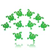 10 Green Plastic Jumping Frogs for Passover by Cazenove
