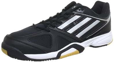 adidas Opticourt Ligra 2 G96455, Herren Hallenschuhe, Schwarz (Black 1 / Metallic Silver / Running White Ftw), EU 42 (UK 8)
