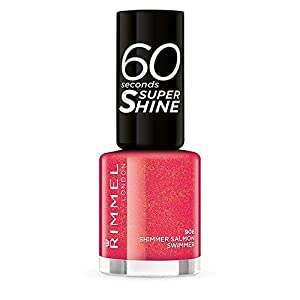 Rimmel 60 Seconds Super Shine esmalte color 906 Shimmer Salmon Swimmer