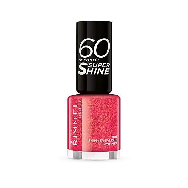 Rimmel 60Seconds Super Shine esmalte color 906Shimmer Salmon Swimmer