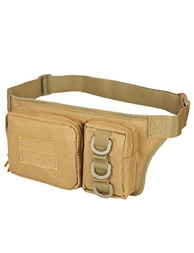 CUKKE Multipurpose Taktische Tasche Gürtel Taille Pack Tasche Military Taille Fanny Pack Telefon Tasche Gadget Geld Tasche Grün Khaki