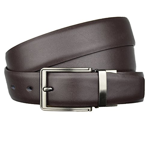 mens-new-genuine-leather-reversible-belts-metal-buckles-free-size-adjustable-brown
