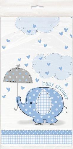 Unique bébé douche Nappe – Bleu Umbrellaphants