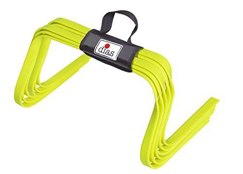RHINOS sports Elastische Hürden 6er-Set | Flach | 15 cm
