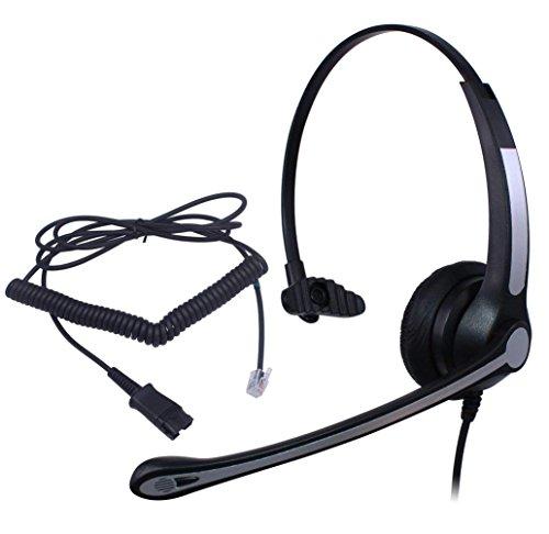 Ymate Wired Call Center Headset Kopfhörer + Quick Disconnect für Avaya/Lucent/6408d + 84038410D 8434DX 4406D + 4406D + 4412D + 4424D + 2410242046204621IP Phone Telefon (y900fqdrja) 5020 Ip Phone