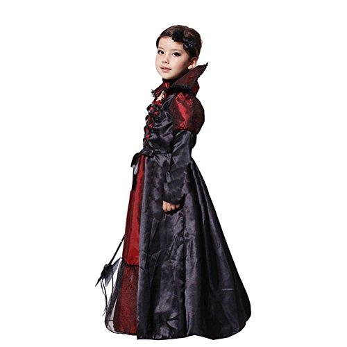 61f9c41861c5 Tongchou Costume da Vampira Bambina Vestito Bambina Halloween Carnevale  Taglia XL