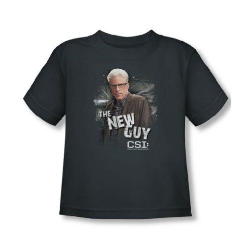 CSI - Csi - Kleinkind The New Guy T-Shirt in der Holzkohle, 4T, Charcoal (New Herren Guy)