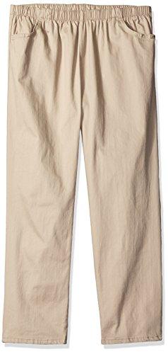 Chic Classic Collection Damen Übergröße Stretch Elastische Taille Schlupfhose - Beige - 50 Zierlich - Womens Classic Collection