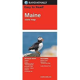 rand mcnally maine state map rand mcnally easy to read