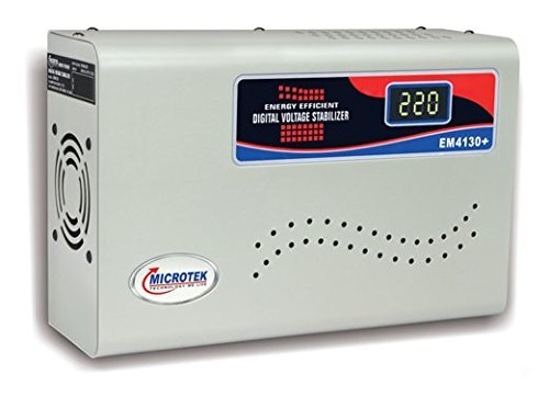 Microtek EM4130 Plus Digital Voltage Stabilizer (Grey)