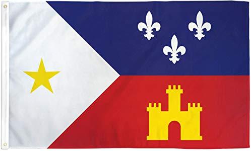 5' Outdoor Indoor Banner (3x5 Acadiana Flag French Louisiana Banner Cajun Pennant Indoor Outdoor New)