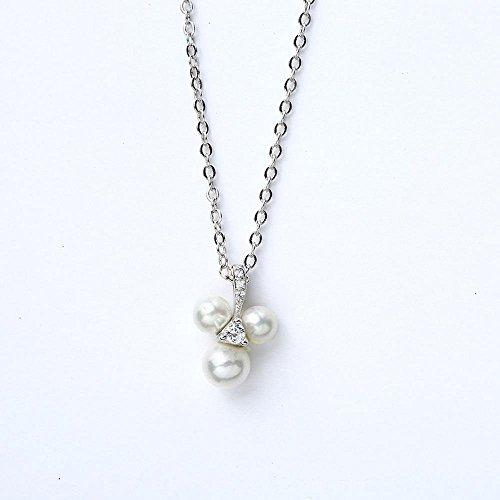 Aoligei S925 Sterlingsilber Dekorative Weibliche Kunst Sen Serie Micro-Intarsien Zirkonium Shi Bezhu Drei-Blatt Halskette -