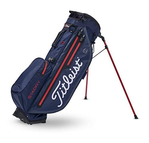 TITLEIST Sac de Clubs de Golf Players 4 + StaDry. Bleu Marine/Noir/Rouge, pour Homme, Taille Unique.