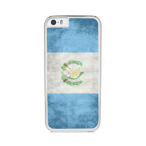 Insomniac Arts - Flag of Guatemala- iPhone 6 Cover, Cell Phone Case - White Silicone Rubber Sides