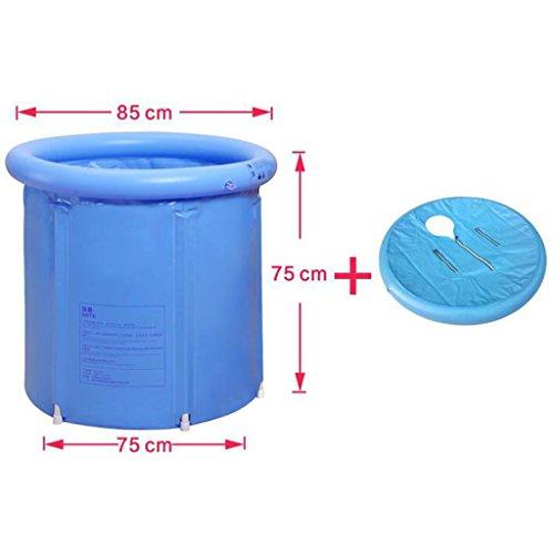 tende Stand-Badewannen-Tragbare Badewanne Coverless Plastikbadewanne bedeckte aufblasbare Badewanne Starkes PVC-zylinderförmiges Blau (Größe : 75*75CM) (Erwachsene Jane Kostüme)