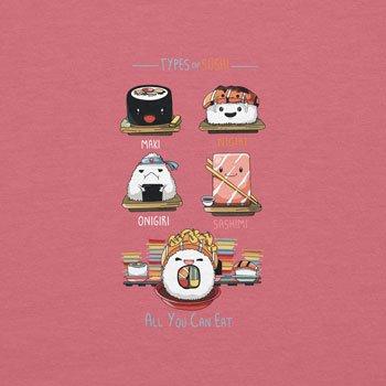 NERDO - Types Of Sushi - Damen T-Shirt Pink