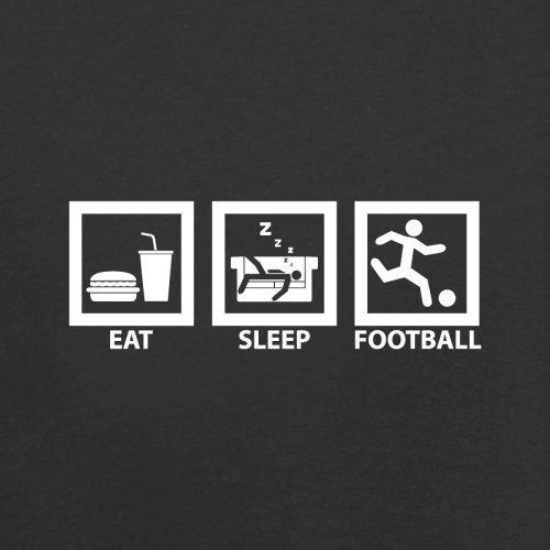 Dressdown Eat Sleep Football - Childrens Kids Hoodie - Black - L  7-8 Years