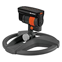 Gardena 8127-20 Oscillating Sprinkler ZoomMaxx: Variable Sprinkler for a Wide Range of Requirements and Areas of 9-216 sq m, Range 3-18 m, Sprinkling Width 3-12 m with Supporting Foot