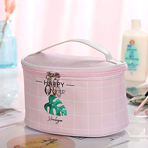 Kaitlyu Dame Dual Reißverschluss Kosmetiktasche Handtasche Tupfen Kulturbeutel Make-Up Tasche Tragbare Hand Tasche -