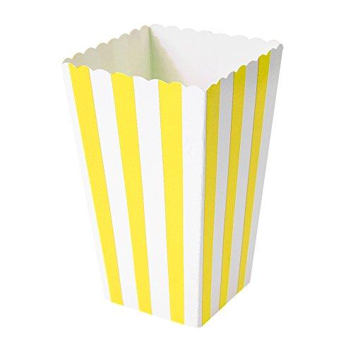 Broadroot 12pcs Bevorzugung Süßigkeit Partytüten Festlichkeit Popcorn Box Kästen für Hochzeit Party (Gelb)