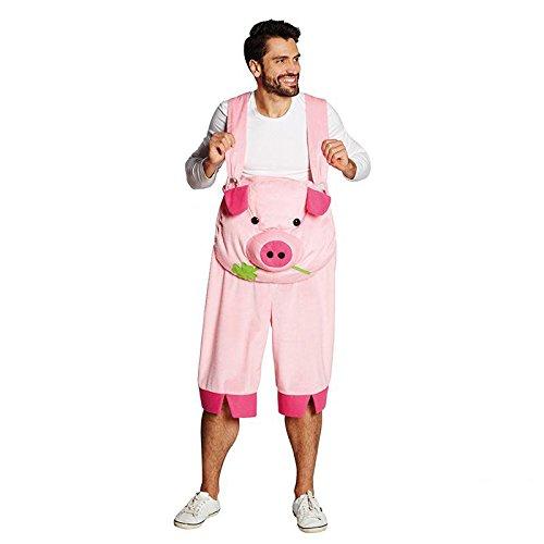 Schwein Latzhose Gr. XL Karneval Fasching Mottoparty Männerkostüm Kostüm