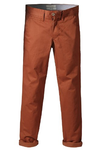 Esprit - pantalon - chino - homme Orange (851 pepper orange)