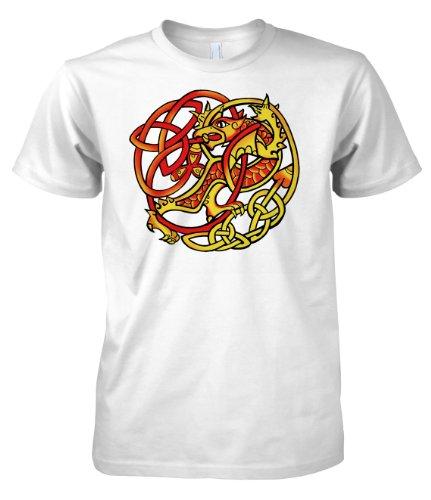 Fantasy Dragon Cetic Tribal 701655 T-shirt da uomo