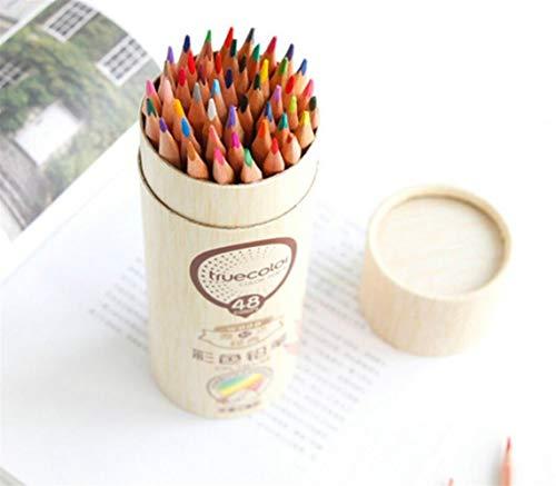 Personalisierte Bleistifte Farbstifte 48 Stück Holz Dreieck Bleistift Farbe Bleistift Kinder Malerei Bleistift (Personalisierte Bleistifte Für Kinder)
