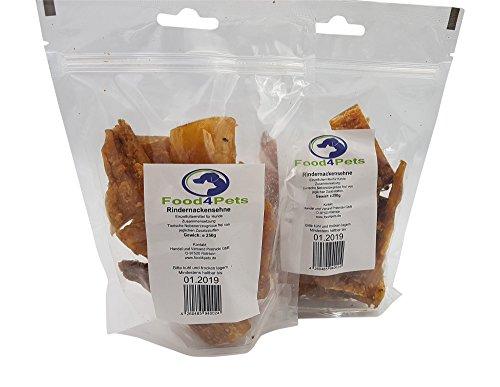 Rindernackensehne Kausnack für Hunde 500g - natürliche Zahnpflege für ihren Hund im praktischen wiederverschließbaren Beutel