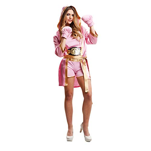 My Other Me Me-203346 Disfraz de boxeadora para mujer, color rosa, M-L Viving Costumes 203346