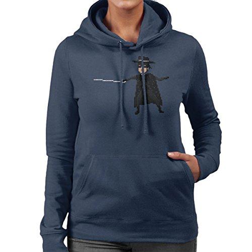 Pixel Zoro Women's Hooded Sweatshirt Navy Blue