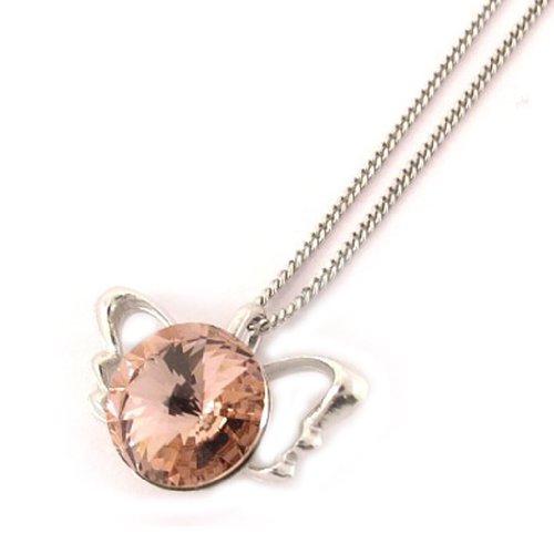 Lily-Crystal [L0173] - Silberkette 'Les Ailes D'ange' roséwein.