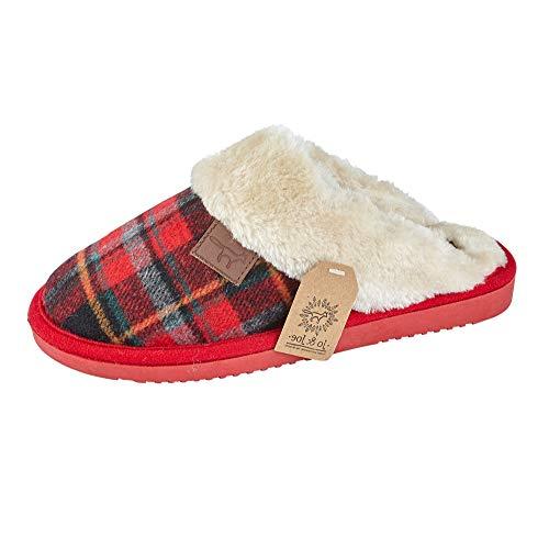 Homme new england tan en cuir et daim en polaire chaude mocassin pantoufles tailles uk 7-12
