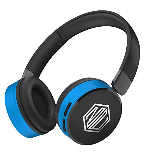 Nu Republic Dubstep Wireless Headphones with Mic (Blue and Black)