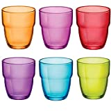 Modulo stapelbare Wasser/Saft Gläser Becher - 305 ml - Mehrfarbig - 6er-Set