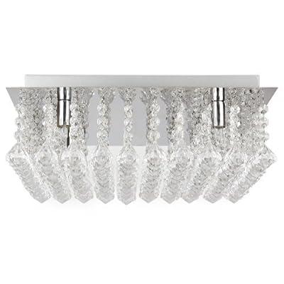 [lux.pro] Kristall-Deckenleuchte (4 x G9 Sockel)(40cm x 40cm) Kronleuchter Deckenlampe Chrom von [lux.pro] bei Lampenhans.de