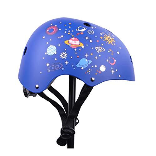 Fahrradhelm Kinder - Leicht, Verstellbar und Belüftet - Geeignet Für Kinder Im Alter Von 4, 5, 6, 7, 8 Jahren Plus CE-Zertifizierung - Kinderhelm Für Fahrräder, Roller - Größe: 53-58cm (Nachthimmel)