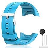 Cyeeson Polar M400/M430 Correa reloj Silicona Blanda Ajustable Banda de pulsera de Gel Brazalete de...
