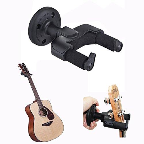 Cisixin Supporto Gancio Montaggio a parete della chitarra, Ganci Appendi per Chitarra Elettrica Basso Ukulele Violino