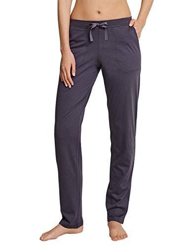 Schiesser Damen Schlafanzughose Mix & Relax Jerseyhose Lang, Grau (Graphit 207), 34 (Herstellergröße: 068)