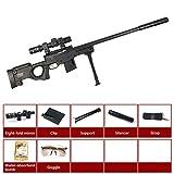 AngryMan Erwachsene Simulation AWM Scharfschützengewehr Live-Action Kampfspielzeug Schießen Wasserpistole, 7-8mm Gel Weiche Wasser Kristallkugeln