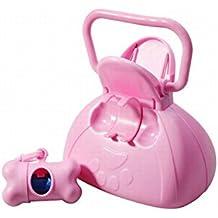 Cane Poop Scoop Picker Pooper Scooper w / Bag Dispenser Poly Bag Roll animali accessorio rosa