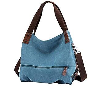 Canvas Tasche,Fanspack Crossbody Canvas Umhängetasche Hobo Bag Damen Schultertasche Crossbody Tasche Handtasche Mädchen Hobo Tasche