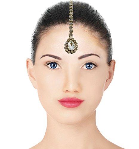 Banithani indien tikka mariage front cadeau de bijoux bollywood maang pour les femmes or 2