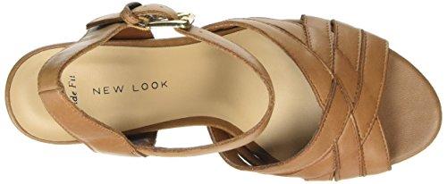 New Look - Wide Foot Perdita, Scarpe col tacco Donna Marrone (Brown (18/Tan))